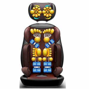 Masseur de dos et d'épaule de Shiatsu – Coussin de chaise de Massage Coussin de siège de Massage de masseur de dos complet de pétrissage profond pour l'usage de bureau à domicile