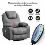 MCombo Fauteuil de massage électrique inclinable et vibrant (gris)