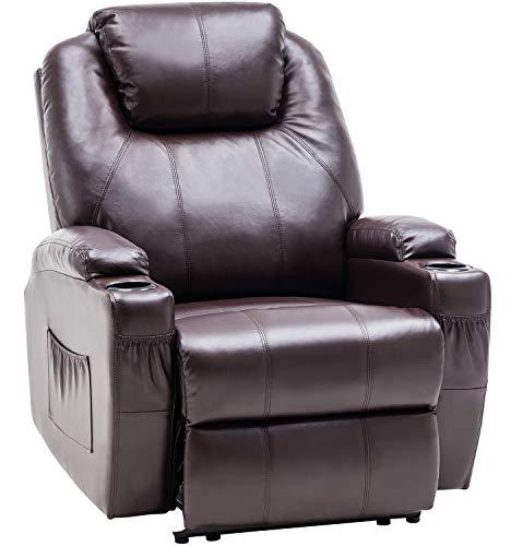 MCombo Fauteuil de massage électrique inclinable et vibrant (marron)