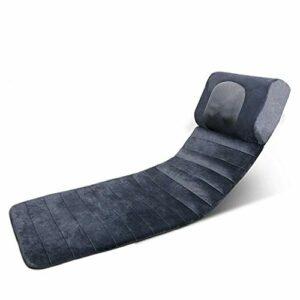 Tapis de massage avec chaleur – Coussin de matelas de massage vibrant avec 3 coussins chauffants pour le soulagement des maux de dos, masseur complet du corps pour le cou et le dos, relaxation muscula