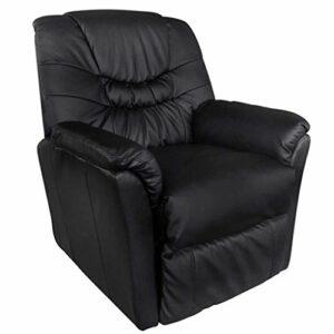 xinglieu Fauteuil électrique massant en cuir artificiel noir design simple et confortable et résistant Tabouret fitness Fauteuil relax Massage