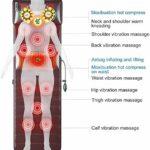 YXIAOL Coussin De Siège De Massage en Mousse À Mémoire – Masseur De Dos Chauffant, 20 Nœuds De Massage par Vibration Et Massage Thermique 10D, Marrón