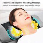 ZHANGYY Masseur De Dos Shiatsu avec Chaleur – Coussin De Chaise De Massage Pétrissage Profond Coussin De Siège De Massage Masseur De Dos Complet pour Une Utilisation À Domicile,Gray