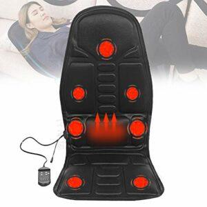 ZMIN Massage du Dos Siège de Massage Coussin Massant avec 7 Moteurs pour Entier Dos et Cou, Soulager La Douleur Corporelle