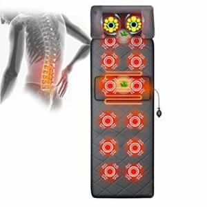 ZMIN Massage du Dos Siège de Massage Coussin Massant pour Entier Dos et Cou avec 12 Nœuds de Vibration 9 Modes de Massage dans Maison Bureau Voiture