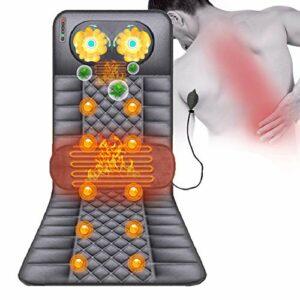 ZMIN Matelas Massant Chauffant Pliable Tapis De Massage Électrique avec 9 Têtes De Massage, Convient pour différentes Personnes