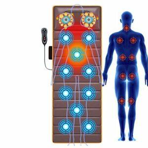 ZMIN Tapis de Massage Électrique avec 10 Moteurs, 9 Modes de Massage et Chauffage, Matelas De Massage pour Soulager La Douleur Corporelle