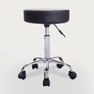 LXYPLM Tabouret de Bar Tabouret pivotant Chaise de Travail réglable Tattoo Hydraulique Siège de Massage en PU Cuir Repose-Pieds rembourré épais (Noir) Chaise de Comptoir