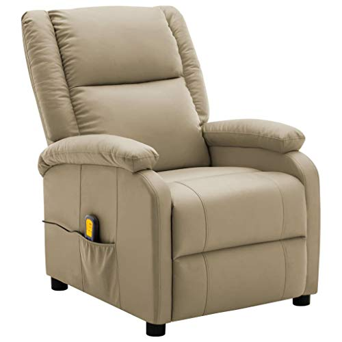 Unfade Memory Fauteuil de Massage inclinable Cappuccino Similicuir