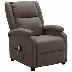 Unfade Memory Fauteuil de Massage inclinable Marron Similicuir