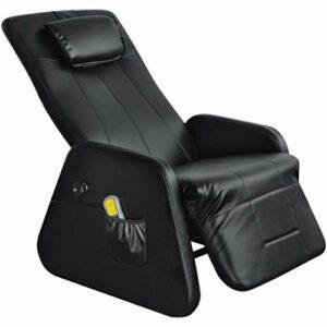 vidaXL Noir Gravité zéro Fauteuil de Massage massant électrique en cuir artficiel