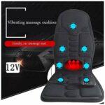 Chaise De Bureau De Bureau Tapis De Massage Chauffant Matelas De Massage Multifonctionnel avec 7 Moteurs Et 8 Modes De Massage Oreiller De Massage Pliable À Domicile, Noir (Couleur: Noir)