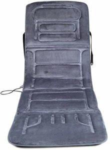 Coussin de masseur de chauffage Coussin de corps complet – Couverture de taille vibrante multifonctionnelle et télécommande de contrôle arrière 10 matelas de massage électrique pour soulager la douleu