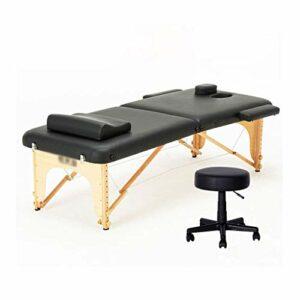 Lit de Massage, Salon de Tatouage, Traitement Reiki, Fauteuil de Massage à Hauteur réglable avec Appui-tête, Charge maximale de 200 kg de Table de Massage (Couleur: Blanc)