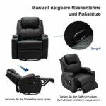 MCombo Fauteuil de massage avec chauffage rotatif et balancelle réglable manuellement Noir