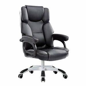 Quotidien Équipement Chaise Chaise d'ordinateur Chaise de bureau à dossier haut Double Coussin Fauteuil de massage inclinable Chaise d'ordinateur Chaise de bureau ergonomique en cuir réglable en ha