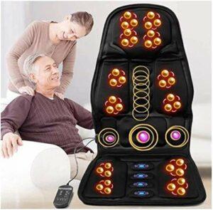 Siège chauffage voiture chauffage oreiller shiatsu back massager avec vibration thermique massage coussin de siège de siège de massage tampon de chaise profondément pétrissage en profondeur