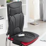 Siège de massage Shiatsu Thermal Tapis–pour nuque, dos, taille, d'atelier–5Programmes de massages différents–avec fonction chaleur indépendant pour une relaxation des muscles
