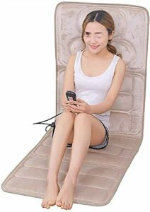 Tapis d'acupressure de thérapie de bien-être avec matelas de massage au dos, avec 9 modes 5 Niveaux, coussin de chauffage Coussin de masseur de corps complet pour soulager la douleur à la jambe lombai