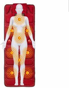 Tapis de massage complet du corps pliable avec chauffage, avec un tampon de matelas de massage vibrant de 9 moteurs, coussin infrarouge électrique de chaleur multifonctionnel Aide à libérer la douleur