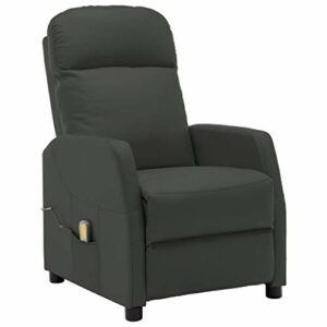 vidaXL Fauteuil de Massage Inclinable Fauteuil de Relaxation Electrique Salle de Séjour Salon Intérieur Inclinaison Chauffage Anthracite Similicuir