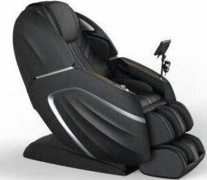WEYRON Grand Royal 5D AI Fauteuil de massage de la tête aux pieds avec chaise de massage Noir