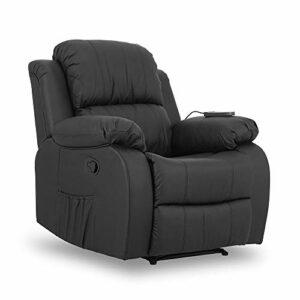ZZ DON DESCANSO Don Descanso Fauteuil de Massage Relax Calor Trevi Noir Cuir synthétique Grand modèle