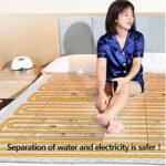 Accueil Équipement Couverture chauffante électrique Jeté chaud Lit double électrique Couverture de soins de santé Matelas de massage aux pierres volcaniques Circulation de l'eau Protection contre l
