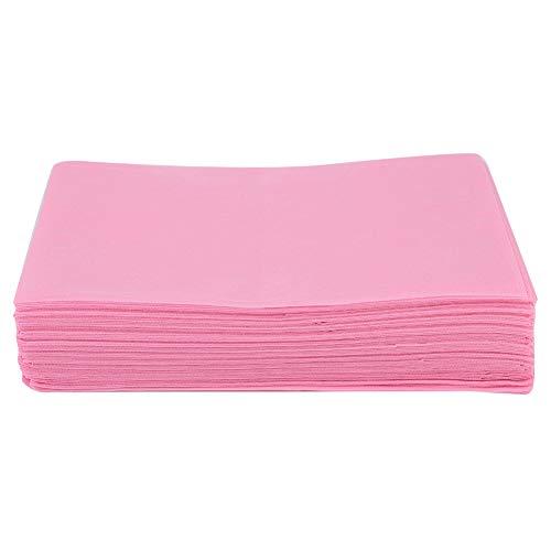 Drap de lit jetable non-tissé de salon, couvre-lit imperméable imperméable jetable de lit pour la couverture de matelas de massage d'hôtel de table de massage de tatouage de salon(rose)