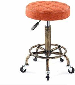 Fauteuil de massage hydraulique avec base en métal antirouille et repose-pieds pour plus de confort (coloris : orange)