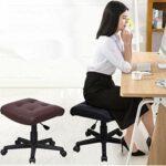 Fauteuil de massage pivotant à hauteur réglable avec surface d'assise extra épaisse pour une assise confortable