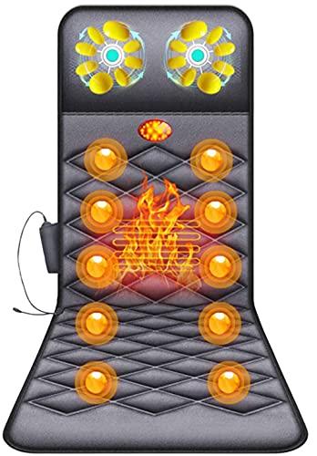 FEFCK Tapis De Massage Chauffant Entier Body Multi-Fonction Maison Matelas Matelas De Massage Vibration Chaise De Coussin pour La Masse De Dos Relief