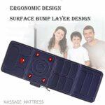 Fonction Massage Électrique Tapis De Massage Chauffant Complet Corps Excellent Cadeau pour S'appuyer sur Un Coussin Électrique Matelas De Massage Coussin Gonflable pour Hommes Femmes,Blue