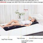 HANHJ Tapis De Massage Complets Confortables avec Matelas De Massage Chauffant pour Le Dos avec 10 Moteurs De Vibration 4 Coussin Chauffant Thérapeutique avec Arrêt Automatique,Brown