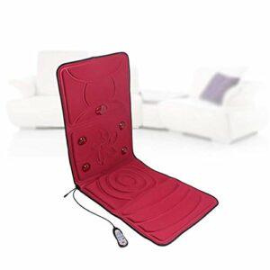 KK Timo Shiatsu massage du dos Fauteuil de massage avec la chaleur, Deep Tissue Pétrin Rouleaux, Coussin Vibration, hauteur du cou réglable – Relax cou épaule muscles du dos et de la hanche, Rouge (Co