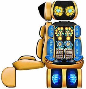 LANCHUN 9D Full Body Vibration Fauteuil de Massage Pad, Shiatsu Cou Massage du Dos avec la Chaleur, Coussin Pétrissage Roulant Massage, 20 Boules de Massage, for l'épaule Hanches Taille