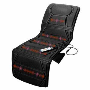 MaisonMaligne – Matelas de massage – 172 x 57 cm – 10 moteurs – 5 modes – 3 niveaux d'intensité – Thérapie de chaleur calmante