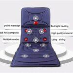 Matelas de massage complet du corps, tapis de massage Shiatsu multifonctions avec tapis de massage électrique thermique pour chaise coussin couverture pour le corps apaisant pliable pour les voyages d