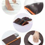 Matelas de massage électrique massage nuque dos fesses jambes avec 10 vibration de moteurs,massage de positionnement,9 niveaux de force et fonction de chaleur et timing pour le bureau à domicile