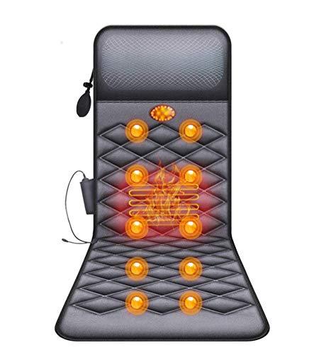 MUZILIZIYU Tapis de Massage avec Chaleur – Tapis de Matelas de Massage Vibrant de 10 Moteurs, pour soulagement du Mal au Dos, Corps Complet pour Le col et Le Dos Massage Pliable de ménage, 178x60cm
