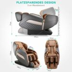 Naipo Fauteuil de massage électrique A350 Zero-gravity fauteuil massant inclinable pour un massage du corps entier, Divers programmes de massage, Techniques de massage bioniques, Extensible, Bluetooth