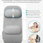 Naipo Siege massant Coussin de massage coussin massant Shiatsu Masseur du dos Le masseur électrique avec fonction thermique peut détendre les muscles du dos à la maison ou au bureau