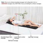 OrangeC Tapis de Massage Chauffant Complet du Corps électrique Matelas Massant Chauffant et Vibration Multifonctionnel Coussin de Massage pour Tout Le Corp Relaxation des Maux Musculaires