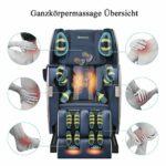 Real Relax Fauteuil de massage Zero Gravity avec fonction chauffante Bluetooth et lumière LED pour la maison et le bureau