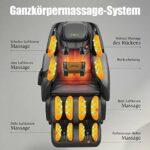 Real Relax SL-Track Fauteuil de massage 3D pour tout le corps avec massage musical, technologie Body-Scan Bluetooth, massage par pression d'air pour la maison et le bureau