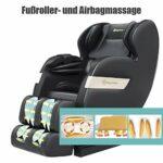 Real Relax Véritable Fauteuil de massage inclinable, Shiatsu, Zéro Gravité, Système d'accoudoir enrobant, Système de chauffage