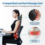 RENPHO Massage du Dos Siège de Massage Coussin Massant pour Entier Dos et Cou avec -Siege Massant pour massage du cou et du dos dans le bureau à domicile