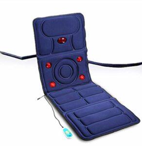 Tapis de massage avec chaleur, 8 moteurs de vibration Matelas de massage Tapis de matelas de corps complet Tapis de vibration et masseur de cou de Shiatsu pour soulager le stress ou la tension de l'ép