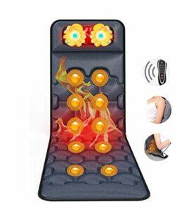 Tapis de massage de vibration pour tout le corps 9 Thérapie Thérapie Taille de chauffage 10 Moteurs de vibration Tapis de massage Matelas de massage pour les jambes au dos Soulagement de la douleur Ma