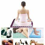 Yimidear Acupressure Mat et oreiller Set Matelas de Massage Yoga Mat Pour Soulage Stress et Douleur/Relaxation/Récupération post-sport (Rose)